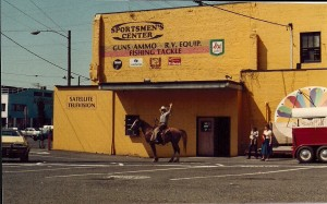 In the day when I ran a Sporting Goods Store for Burns Bros., Inc. Czar on the backside of the Sportsmen's Center! He was a great hunting horse that liked the mountains!