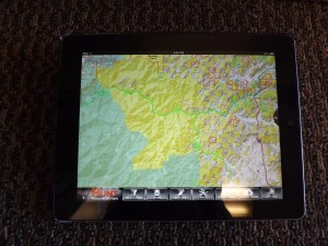 My I Pad with the new HUNTING GPS  MAPS installed!