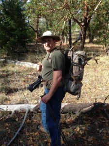 It's me with David and my Blacktail!  Oh! I have my smoke pole with me also.