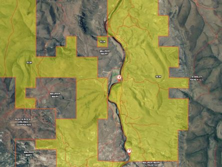 The BLM Rd. on the east side is closed and locked. River crossing or 11 mile walk...